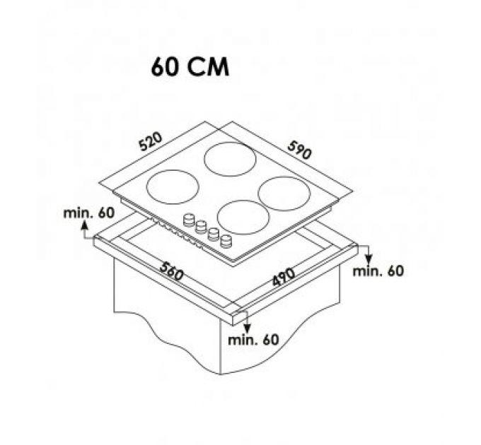 CANDY варочная поверхность газ.CSG 64 SWGN